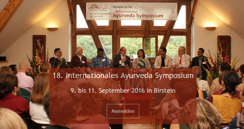 Spannung und Vorfreude: nur noch 9 Tage bis zum 18. Internationalen Ayurveda Symposium