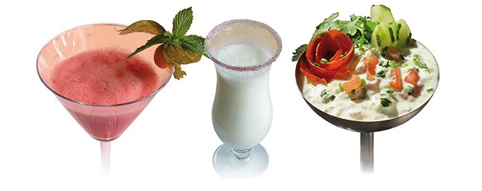 Drei Rezepte für die heiße Sommerzeit
