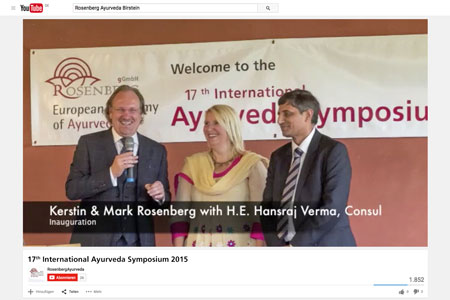 Video: 17. Ayurveda-Symposium in Birstein 2015