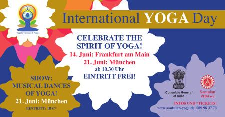 International Yoga Day 21. Juni 2015 - Veranstaltungen in München und Frankfurt