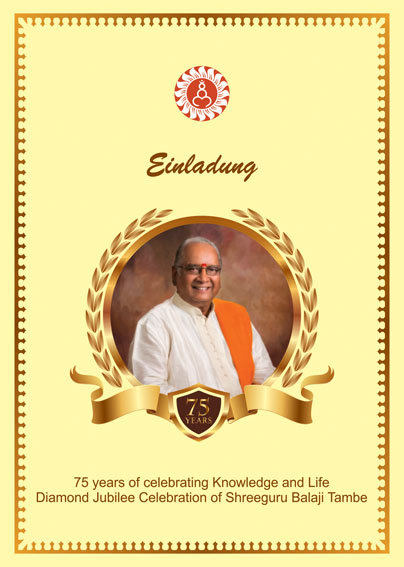 Wir gratulieren Shriguru Balaji Tambe von Herzen zum Geburtstag!