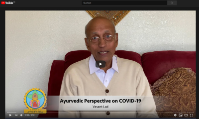 Dr Vasant Lad nimmt im video Stellung zu covid-19